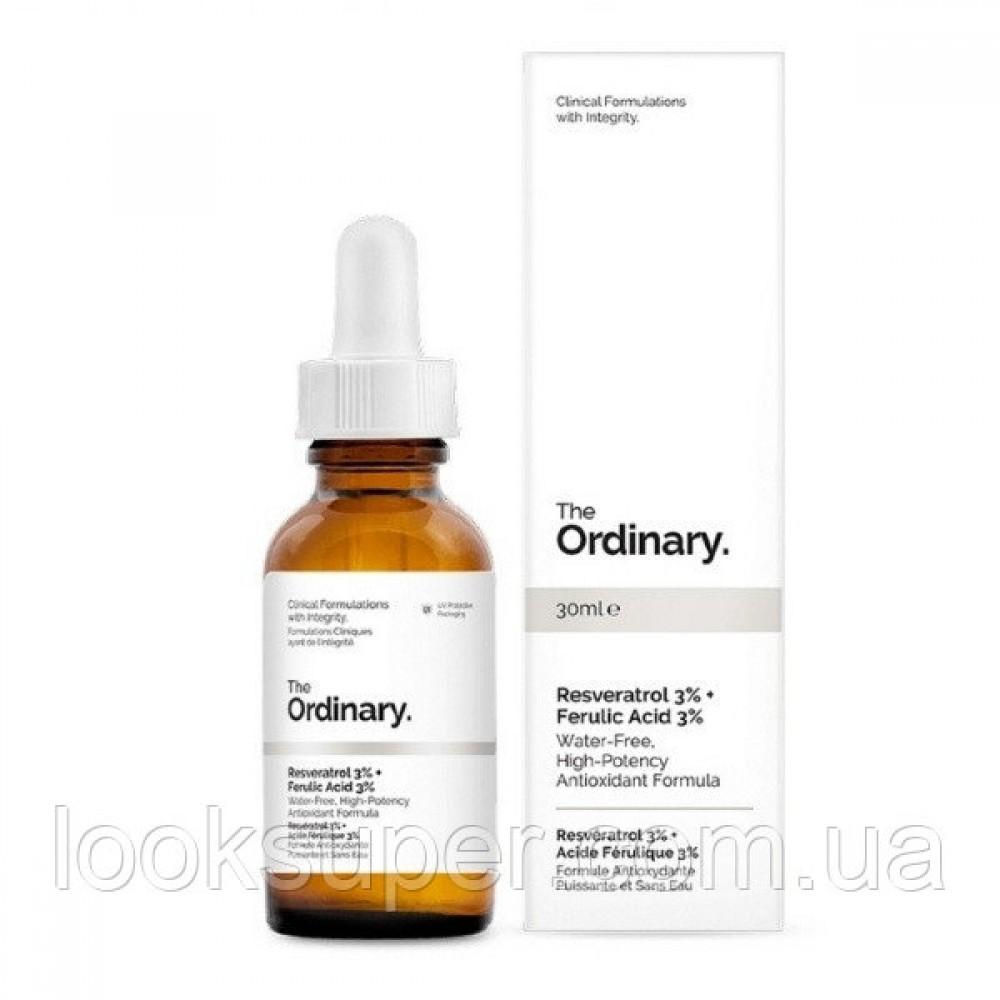 Антиоксидантная сыворотка для разглаживания морщин The Ordinary Resveratrol 3% + Ferulic Acid 3%( 30ml )