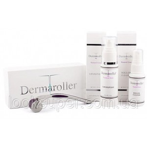 Комплект ухода за кожей Dermaroller Genuine Dermaroller Home Kit - inc. Roller & Cleaner