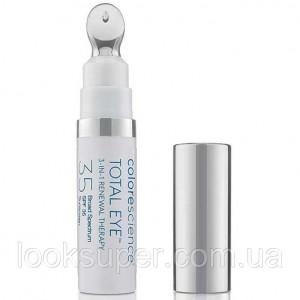 Минеральный солнцезащитный крем Colorescience Total Eye 3-in-1 Renewal Therapy SPF 35