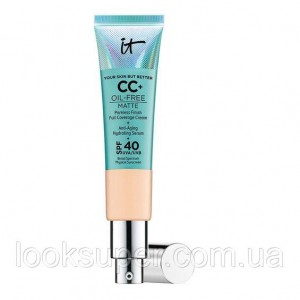 СС-крем IT Cosmetics Your Skin But Better CC+ Oil-Free Matte with SPF 40.LIGHT MEDIUM.