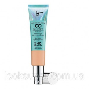 СС-крем IT Cosmetics Your Skin But Better CC+ Oil-Free Matte with SPF 40.MEDIUM TAN.