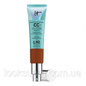 СС-крем IT Cosmetics Your Skin But Better CC+ Oil-Free Matte with SPF 40.DEEP.