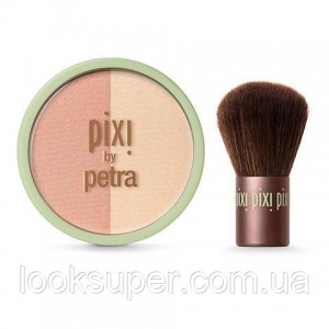 Дуэт румян и хайлайтеров + кабуки Pixi Beauty Blush Duo + Kabuki. HONEY