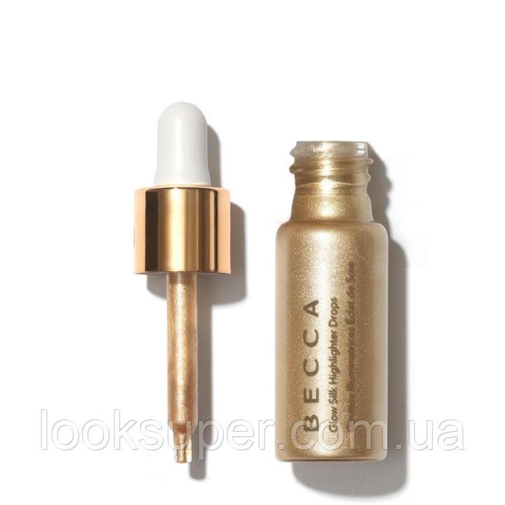 Жидкий хайлайтер BECCA Glow Silk Highlighter Drops Champagne Pop