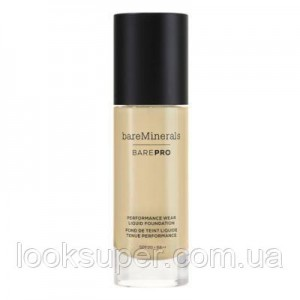 Жидкая основа Bare Minerals BAREPRO 24-Hour Full Coverage Liquid Foundation SPF20 30ml WARM NATURAL 12
