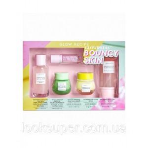 Набор Glow Recipe Glowipedia Bouncy Skin Set ( 75ml, 40ml, 25ml, 15ml, 3.1g ) Ограниченный выпуск