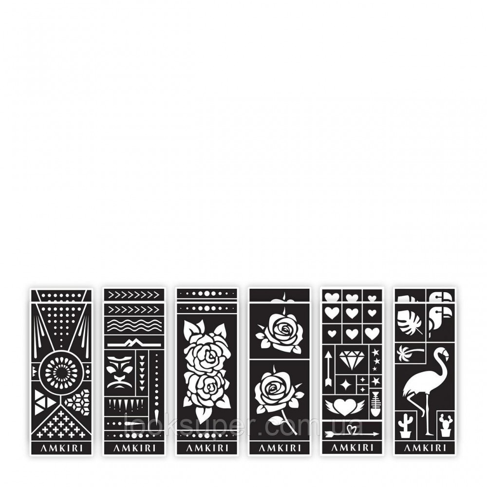 Парфюмированые чернила  и трафареты  Amkiri Original Scent White Wand & Stencils  10ml