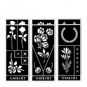 Коллекция цветочных трафаретов Amkiri 12 Sheets Stencil Set - Floral