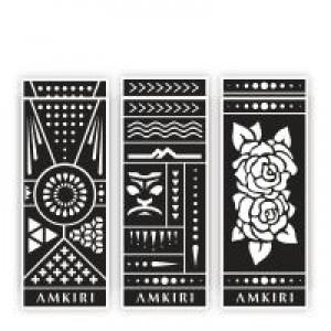 Коллекция трафаретов Amkiri 12 Sheets Stencil Set - Variety