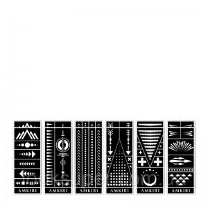 Коллекция трафаретов Amkiri 12 Sheets Stencil Set - Geometric